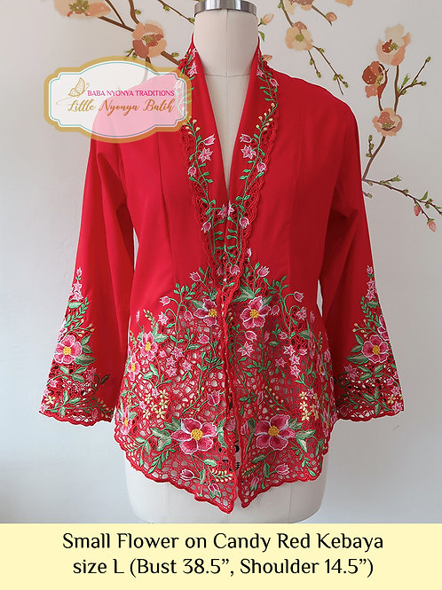 Lux: Small Flower on Candy Red kebaya (L)