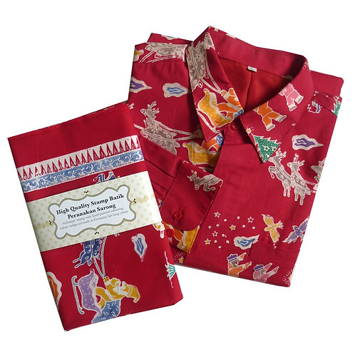 X'mas: Pair of Men's Shirt Size L and Woman Sarong