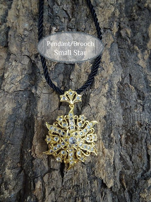 Pendant/Brooch Vintage Style Small Star