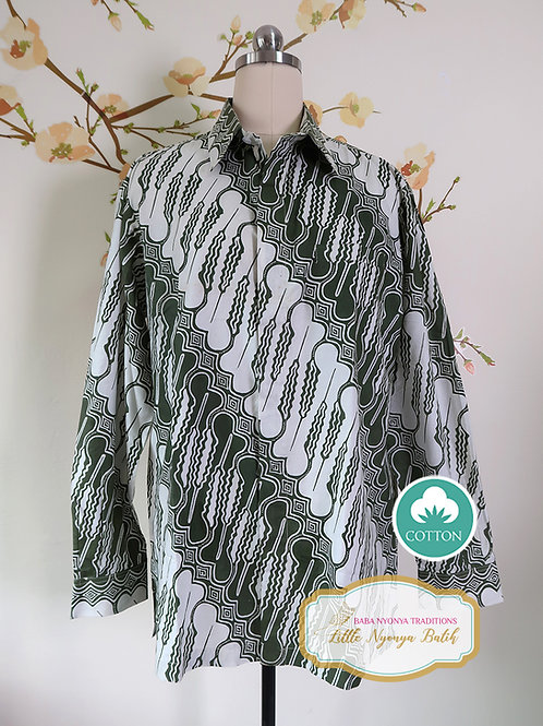 SBML: Traditional Green on Cotton. No Lining. size L