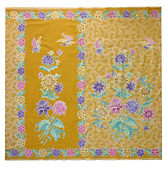 peranakan batik sarong bird butterfly yellow singapore