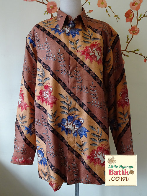 Hand-drawn Lereng Floral Silk. Long (XL)