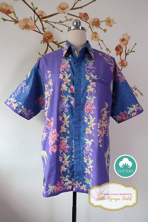 SBMS: Orchid on 2 Tone Purple on Cotton (L) No Lining