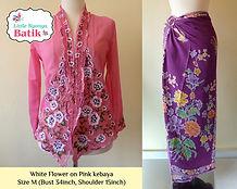 peranakan pink nyonya kebaya purple sarong batik singapore