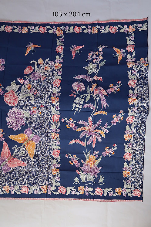 Sarong Butterfly on Navy Cotton