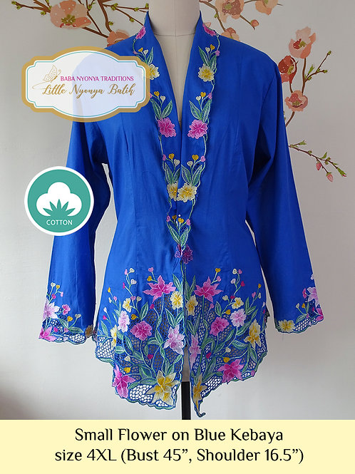 B: Small Flower in Blue Kebaya. size 4XL