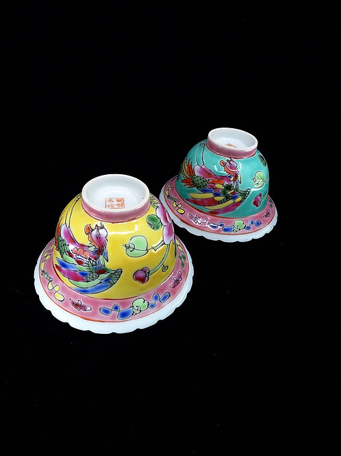 Phoenix Peony Porcelain Tea Cup (1pc)
