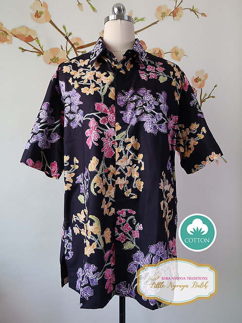 SBMS: Orchid Black on Cotton (XL) No lining