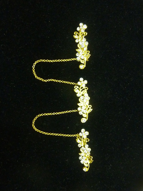 Kerosang Stone Gold Flower B