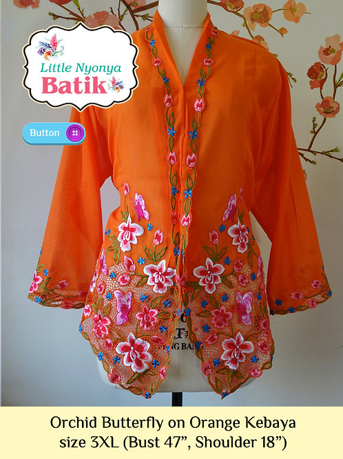 B: OrchidButterfly in Orange Kebaya. size 3XL