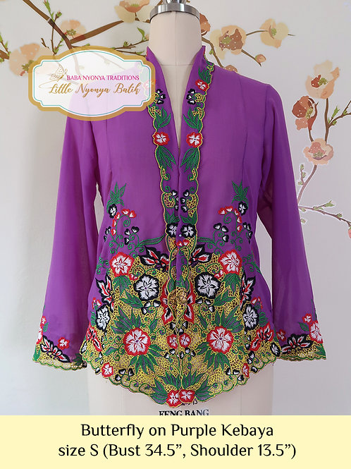 B: Butterfly in Purple Kebaya. size S