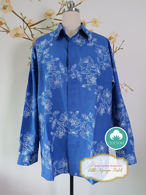 SBML: Orchid Blue on cotton. No Lining. Size XL
