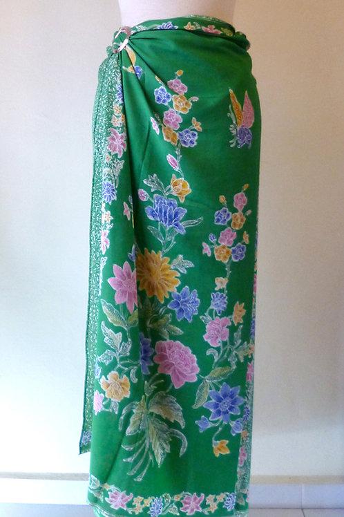 Rayon Sarong Emerald Green