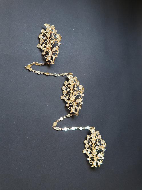 Kerosang Vintage Style Flower Granulation