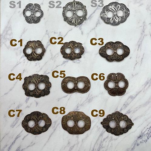 Copper Filigree Sarong Buckle