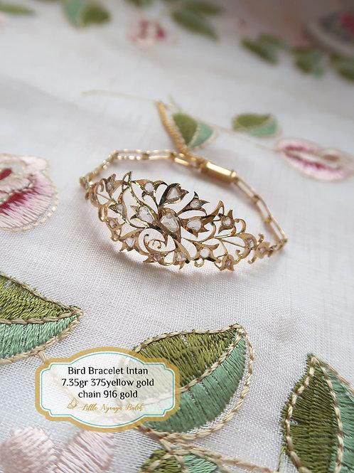 Vintage: Bird Gold Bracelet Intan in 375 gold