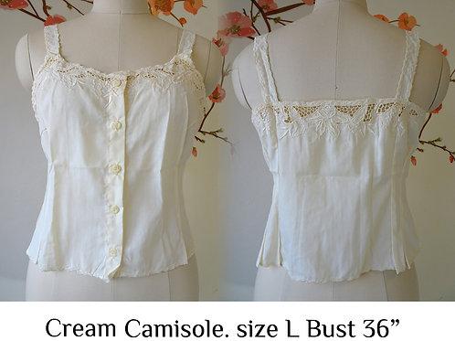 Cream Chrysanthemum Camisole size L A