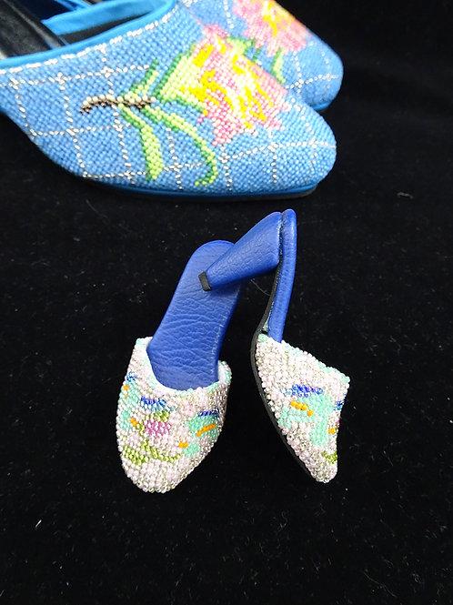 Miniature Peranakan Beaded Shoe Pink