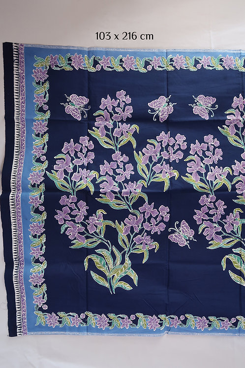 Hip wrap Orchid Butterfly Navy on Cotton