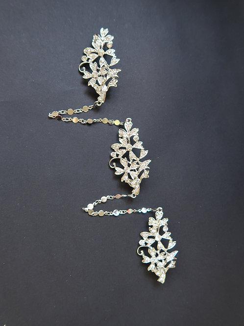 Kerosang Vintage Style Jasmine Silver
