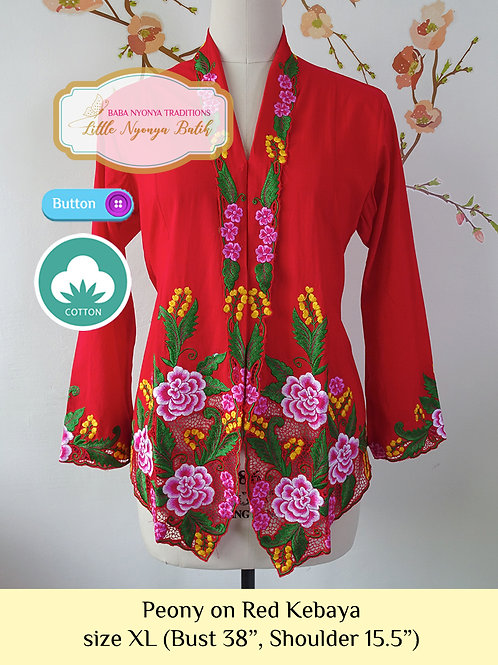 C: Peony in Red Kebaya. size XL