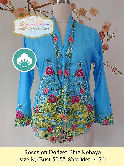 C: Roses in Dodger Blue Kebaya. size M