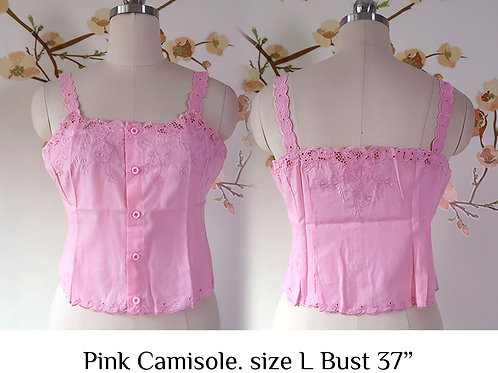 Pink Chrysanthemum Camisole size L A