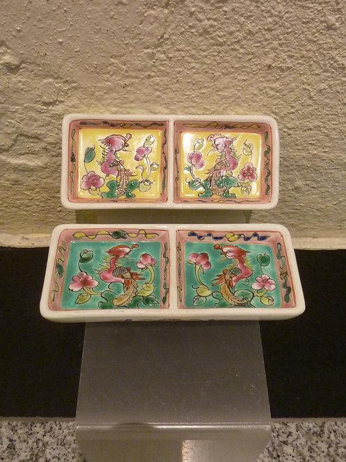 2 Compartment Porcelain Sauce Dish (1pc)