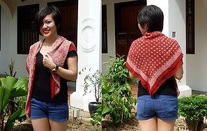 reversible square silk scarf batik singapore nonya nyonya
