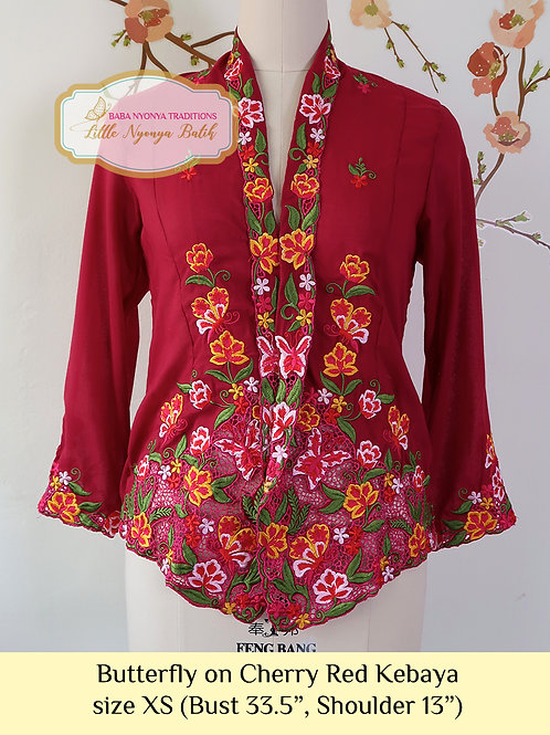 B: Butterfly in Cherry Red Kebaya. size XS