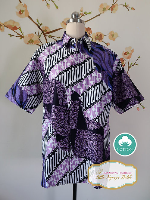 SBMS: Abstract Purple on Silky Cotton Sateen (M) Lining