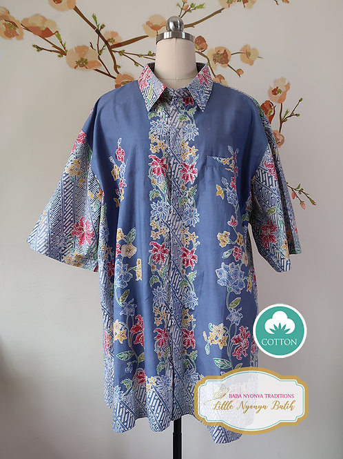 SBMS: Orchid Cloudy Blue Cotton (3XL) No Lining