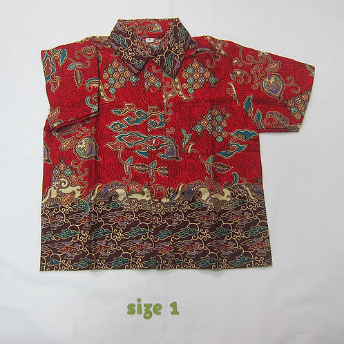Boy Shirt Red Cloud. for 1yo