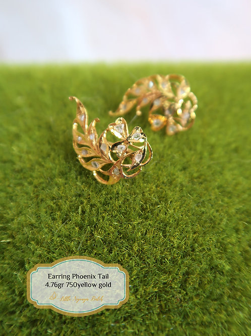 Vintage: Phoenix Tail Earring 750 gold