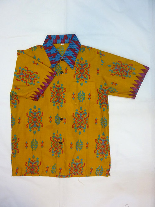 Boy Orange Woven Motif. size 13