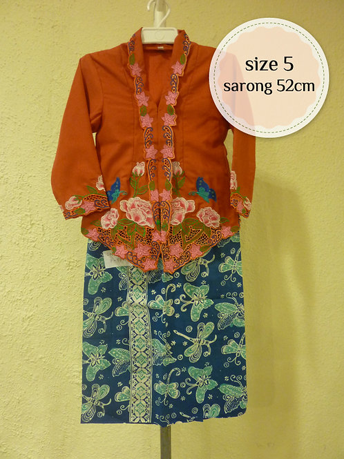 size 5. Cotton Butterfly Orange