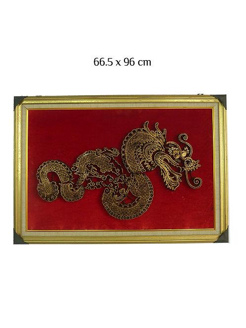 Batik Stamp Copper Dragon with Frame