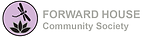 "Icon of a aloe plant with a dragonfly above.  Words ""Forward House - Community Society"" beside icon"