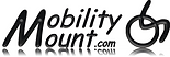 "Large capital letter ""M"" used to stat the two words ""obility"" and ""ount.com"" that are stacked on top of each other.  To the right is a graphic representation of a wheelchair user."
