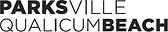 "Just the words, ""Parksville Qualicum Beach"" with Tourism Association written after"