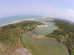 Kappalady Lagoon drone