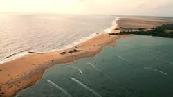 Kitesurfing flat water Sri Lanka Kappalady Lagoon