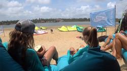 Kitesurfing Sri Lanka chilling out at Kappalady Lagoon