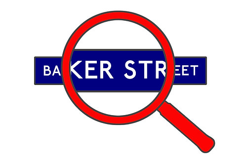 Baker Street A3 Giclee Print - Alternative London Underground Sign