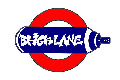 Brick Lane Tube Sign on Brushed Aluminium - Alternative London Underground Sign