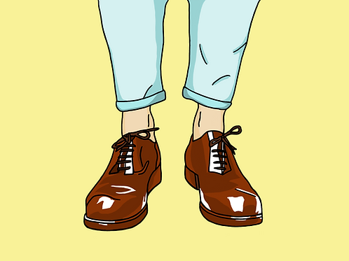 Sockless Wonder - A3 Print