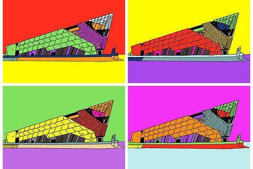 Fish Tank (The Deep, Hull) - 4 Image A3 Print