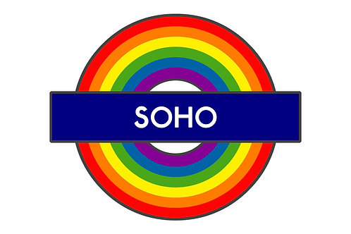 Soho A3 Giclee Print - Alternative London Underground Sign