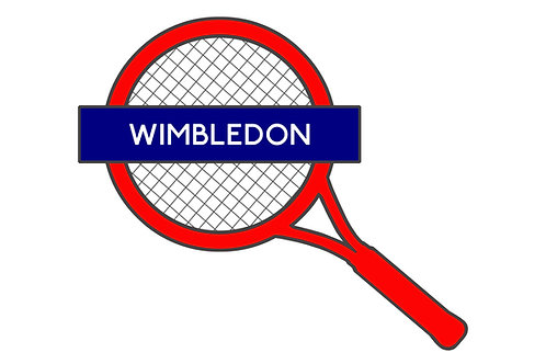 Wimbledon Tube Sign on Brushed Aluminium - Alternative London Underground Sign