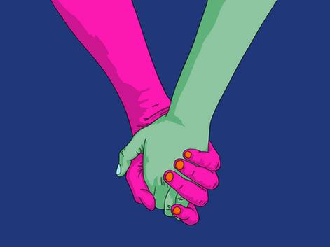 I Wanna Hold Your Hand - Dark Blue